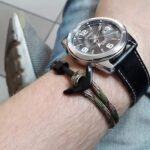 Navy Blue Minimalist Nautical Anchor Bracelet
